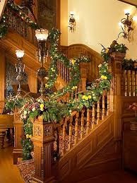 christmas staircase garland ideas best design idolza