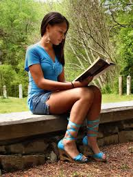 free stock photo of a beautiful african american teen reading