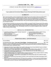 Sample Dietitian Resume by College Graduate Resume Sample Within College Graduate Resume