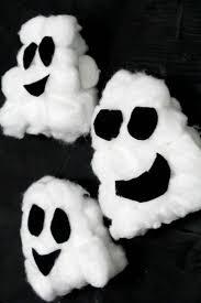 easy halloween ghosts kids craft