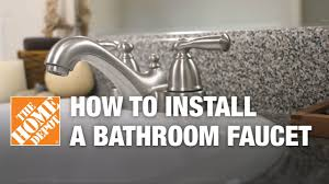 How To Replace A Kitchen Sink Faucet How To Install Or Replace A Bathroom Sink Faucet Youtube