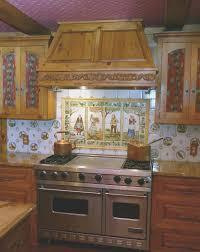 kitchen backsplash colors backsplash view hand painted tiles kitchen backsplash artistic