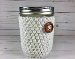 of gold crochet cup cozy pattern for a starbucks grande cup mason jar cozy etsy