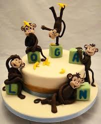 monkey cake topper baby monkey cake topper christening birthday set decorations sock