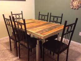 gorgeous rustic farm table kitchen dining pallet reclaimed