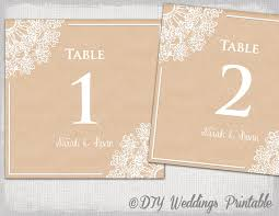 wedding table numbers template rustic wedding table number template diy lace doily
