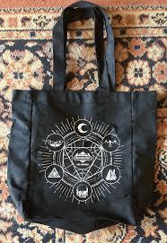 official memento mori tote bag sacred geometry memento mori