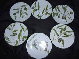 porcelaine peinte main 6 assiettes à hors d u0027oeuvre en porcelaine peinte main