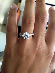 2 carat solitaire engagement rings 2 ct solitaire with pave band wedding of