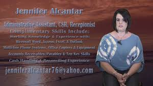 Key Skills Resume Administrative Assistant Jennifer Alcantar Video Resume Administrative Assistant Csr