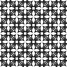 pattern clip art images black and white geometric pattern with symbolic flowers vector