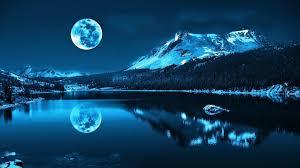mountain moon lake hd wallpapers download desktop backgrounds