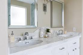 Bathroom Backsplashes Ideas Curved Bathroom Vanity Backsplash Transitional Pertaining To