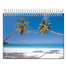 tropical photo album lenticular photo album with palm trees on a tropical