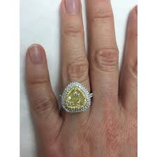 heart shaped engagement ring 3 57 tcw yellow heart shaped diamond halo engagement ring