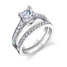 classic tapered princess engagement ring