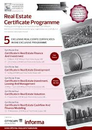certificate in real estate development home
