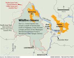 Wenatchee Washington Map by Fire Danger Forces Closure Of Forestlands North Of Hwy 2 East Of