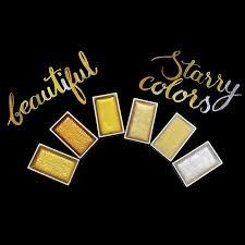 kuretake gansai tambi watercolour paint starry colours set of 6