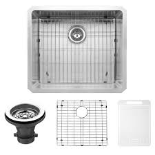 VIGO Undermount Stainless Steel  In Single Basin Kitchen Sink - Kitchen sink grid