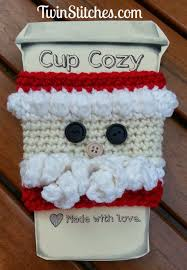 christmas crochet coffee cozy pattern round up stitches