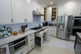 Herringbone Tile Floor Kitchen - traditional kitchen with kitchen island by aplus interior design