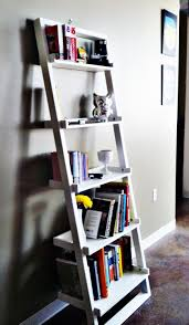 Leaning Bookcase Walmart Ideas Contemporary Wall Decorating With Leaning Shelves Design