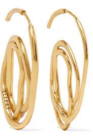 gold plated earrings ellery forbidden fruit gold plated earrings net a porter