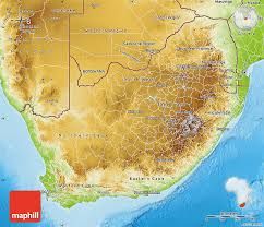 map of south africa physical map of south africa