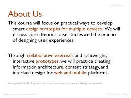 basics of interaction design u0026 strategy fall 2012