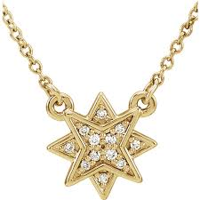 gold with diamond necklace images Yellow gold diamond star pendant kravit jewelers jpg