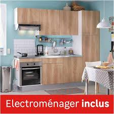 bloc cuisine leroy merlin cuisine équipée en kit avec meuble électroménager évier et