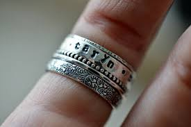 personalized stackable rings stackable name rings name ring personalized ring gift for
