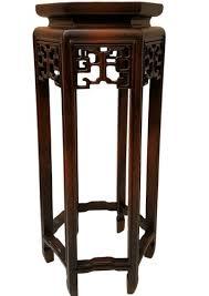 Wood Pedestal Stand Asian Pedestal Stands Oriental Furnishings