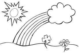 free spring rainbow coloring pages rainbow coloring pages