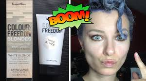 silver blonde color hair toner recenzja toneru colour freedom blondes white blonde youtube