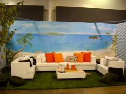 hand painted beach mural on stick and peel wall fabric wall art hand painted beach mural on stick and peel wall fabric wall art