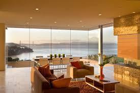 Seamless Windows Living Room Modern With Frameless Glass San - Modern living room furniture san francisco