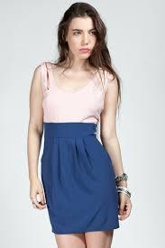 ashtyn color block cutout detail dress royal blue pink ava
