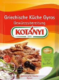 griechische küche kotányi griechische küche gyros 41 g kotanyi at