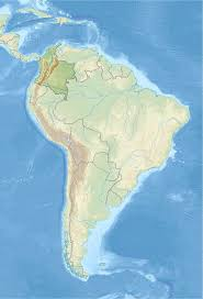 Columbia South America Map File Colombia In South America Relief Mini Map Svg