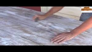 how to distress finish stained table youtube