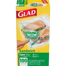 halloween sandwich bags glad double pinch u0026 seal zipper sandwich bags 100 ct walmart com