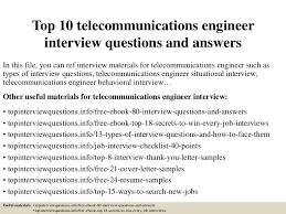 top10telecommunicationsengineerinterviewquestionsandanswers 150325075208 conversion gate01 thumbnail 4 jpg cb u003d1427287976