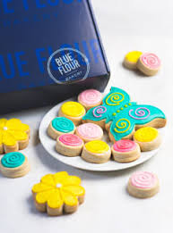 baby shower cookies box blue flour bakery