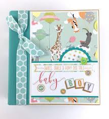 baby boy photo album baby boy scrapbook mini album kit or premade newborn shower gift