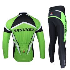 cycling rain vest arsuxeo men sports cycling clothes bike bicycle suits jersey long