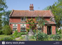 english country cottage at banham norfolk with kitchen garden