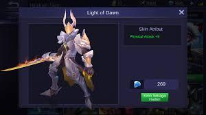 Light Of Dawn Jual Light Of Dawn Skin Argus Game Mobile Legends Itemku