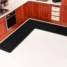 Country Style Kitchen Rugs French Country Style Kitchens With L Shaped Vinyl Mats Anti